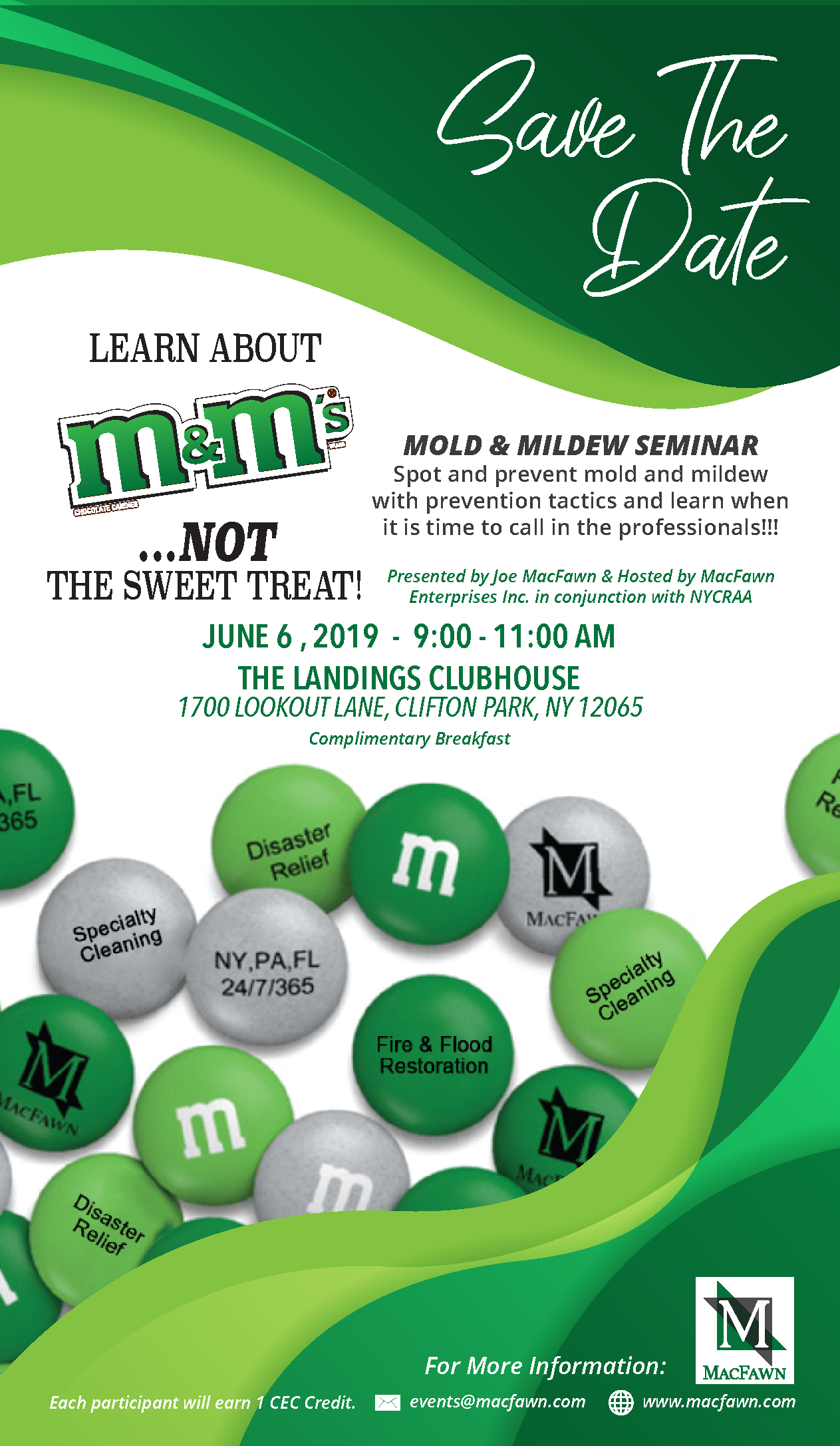 M&M's Event save the date