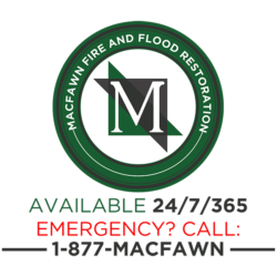 MacFawn Fire and Flood Restoration Available 24/7/365. Emergency? Call 1-877-MACFAWN