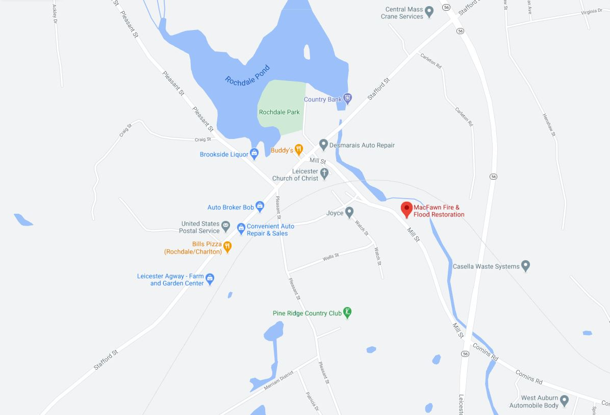 Map of Worcester MA Office Location